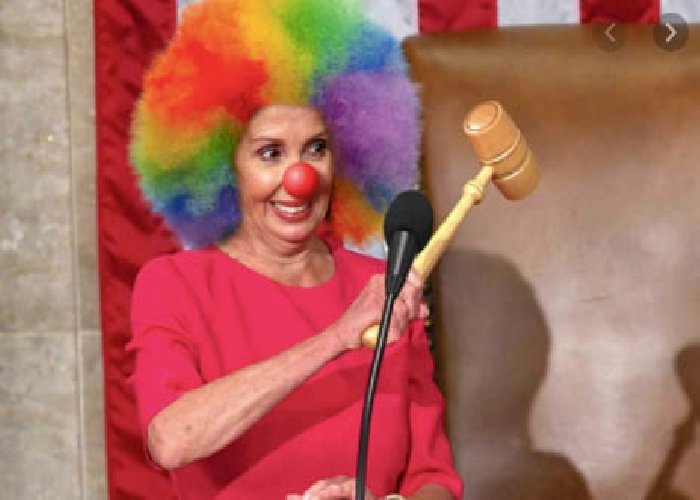 The World Laughs at, not with, Pelosi The Clown!!!